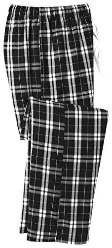 District Men's Young Flannel Plaid Pant XL Black ()