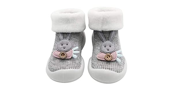 Baby Girl Non-Skid Slip Socks Newborn Infant Lace Bowknot Bunny No-Show Socks 0-6 Months 3 Pairs Grey