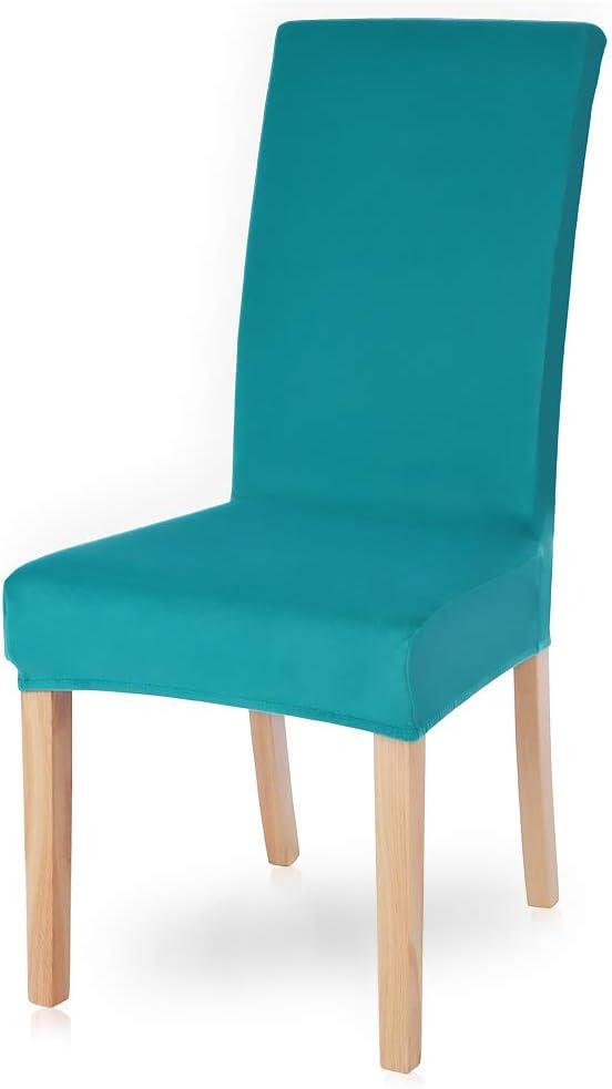Snewvie Velvet Housse de chaise universelle 1 pc//2 pcs//4 pcs//6 pi/èces housse de chaise en spandex moderne housse de chaise beige 1pc extensible