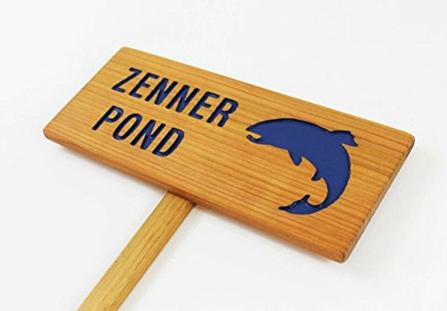 Personalized Sign for POND, Fishing Hole Sign, Backyard Garden, Zen Garden Pond,...