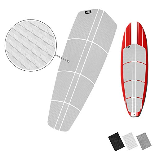 BPS 12piece EVA Sheet Traction Pads for Deck with 3M Adhesive - for Paddle Board, Long Board, and Surf Board (Arctic White)