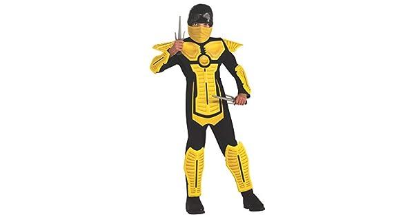 Amazon.com: Disfraz de ninja para niños, amarillo, L ...