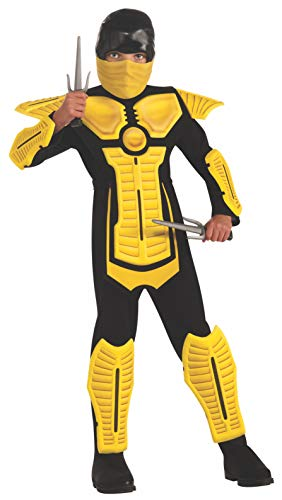 Child's Yellow Ninja Costume, Medium -