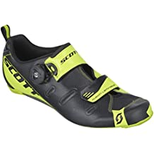 Scott Sports 2016 Men's Tri Carbon Triathlon Cycling Shoe - 242135-4755 (black/neon yellow - 44.0)