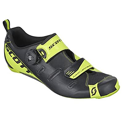 Scott Sports 2016 Men's Tri Carbon Triathlon Cycling Shoe - 242135-4755 (Black/neon Yellow - 43.0)