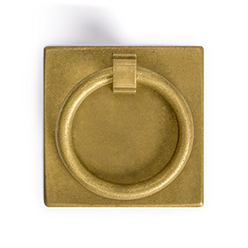 Brass Ring Hardware - CBH Ring Plate Brass Hardware Pulls 2.3