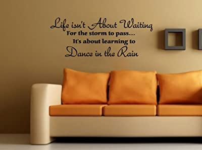 Life Isn't About Waiting Decal Wall Quote Vinyl Love Hearts Large Nice Sticker