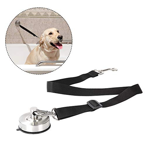 Portable Dog Bathing Restraint,Pet Grooming Suction Cup, Pets Shower Tether Straps , Any Size Dog