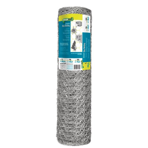 Origin Point 161850 20-Gauge Handyroll Galvanized Hex Netting, 50-Foot x 18-Inch With 1-Inch Openings (Chicken 1 Wire)