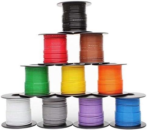 High temp wire cable 16 Gauge MilSpec Tefzel M2275916165 colors 25ft each
