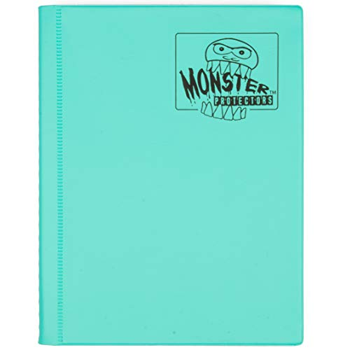 (Monster Binder - 4 Pocket Trading Card Album - Matte Teal (Anti-theft Pockets Hold 160+ Yugioh, Pokemon, Magic the Gathering Cards))