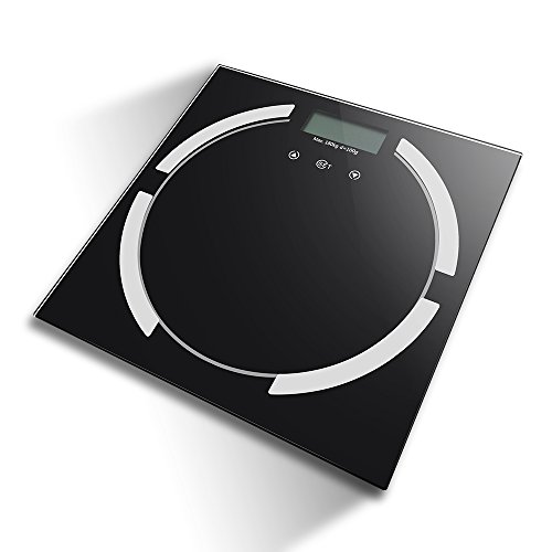 BSTPOWER Bathroom Scale Body Fat Step-ON Digital Health Weight Watchers Body Composition Analyzer with Large Backlit LCD Up To 8 Users Profile Weight up to 400lb