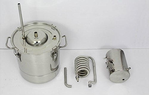 20 Litres DIY 2 Pots Moonshine Still Home Distiller for Making 304 Stainless Steel Wine Alcohol Distiller Fermentation Barrels With Water Pump by AIMIEE_JL (Image #4)