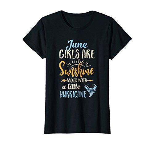 June Girls Birthday Sunshine Mixed Little Hurricane T-Shirt