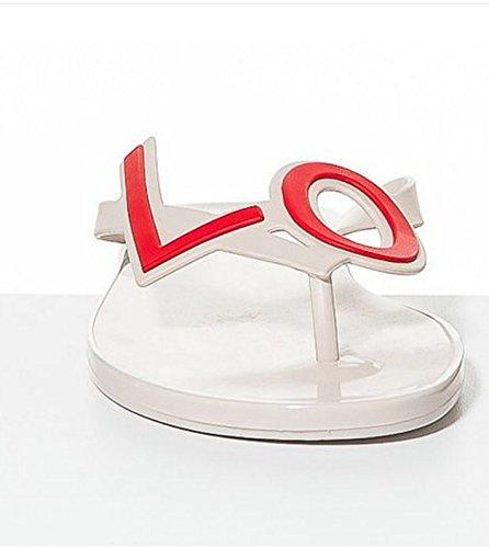 e3a947de88f28 Mel by Melissa Shoes Love City 2 Cream Red Thong Sandal Flip Flops ...