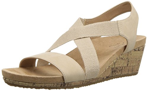 - LifeStride Women's Mexico Wedge Sandal, Bone, 6 M US