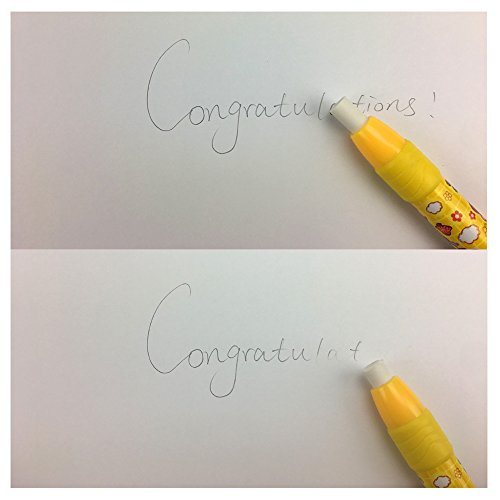 4 ... Cute Pencil Creative Stationery Retractable Rubber Stick Erasers for Kids