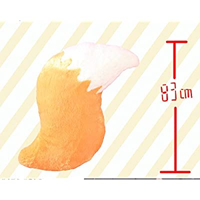 TUCOCOS Anime Plushies The Helpful Fox Senko San Tail Figure Pillow Plush Doll Toys Stuffed Anime Back Cushion Big Fox Tail Throw Pillow Anime Decorations for Bedroom Room Girls: Home & Kitchen