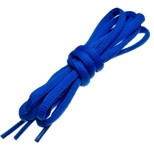 """BIRCH's Oval Shoelaces 27 Colors Half Round 1/4"""" Shoe Laces 4 Different Lengths (56"""" (142cm) - XL, Blue)"""