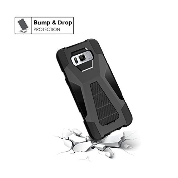 Turtlearmor | compatible for samsung galaxy s8+ case | s8 plus case | g955 [dynamic shell] hybrid dual layer hard shell… 5 dual layer protection - soft inner silicone skin and hard outer pc plastic for the ultimate protection kickstand - built-in stand allows for hands-free media viewing in landscape or portrait mode hundreds of designs to choose from - offers a variety of unique, cool, and custom designs.
