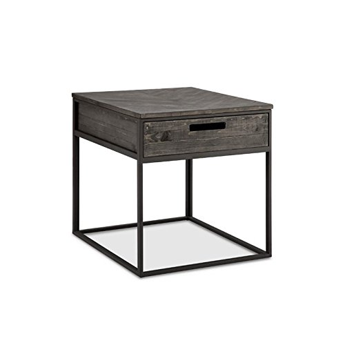 - Magnussen T4034-03 T4034 Claremont Transitional Weathered Charcoal Rectangular End Table