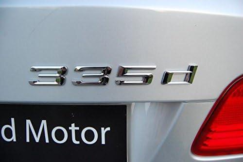 335d Emblem 335 d schriftzug Badge auto aufkleber 3D PKW car Sticker Chrom Emblems
