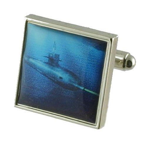 Boutons de manchettes Boutons de manchette ~ Submarine ~ sous-marin Torpedo ~ ~ boutons de manchettes navales Sélectionnez Pouch cadeau