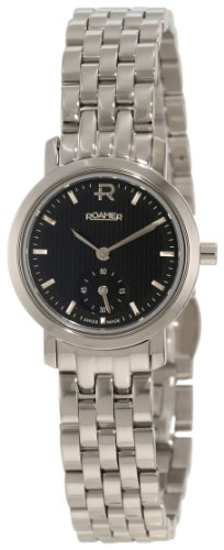 Roamer of Switzerland Women's 931855 41 55 90 Odeon 24mm Black Dial Stainless Steel Watch