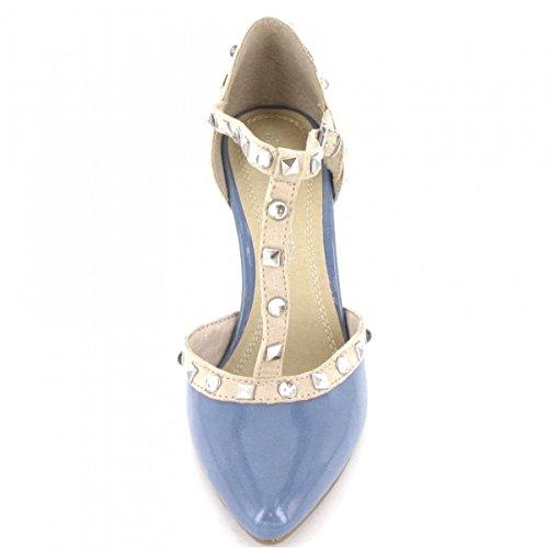 Marco Tozzi Pumps , Farbe: blau/beige Blau/Beige