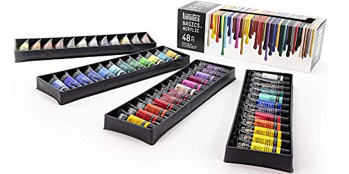Liquitex Basics Acrylic Paint Tube 48 Piece Set