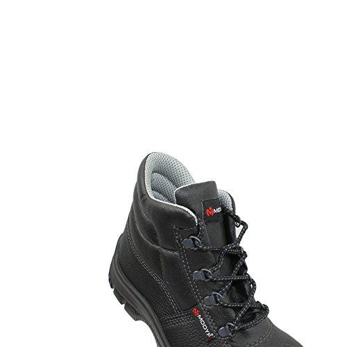 Modyf Baustiefel Pro UK S3 SRC Sicherheitsschuhe Arbeitsschuhe Trekkingschuhe hoch Schwarz Schwarz