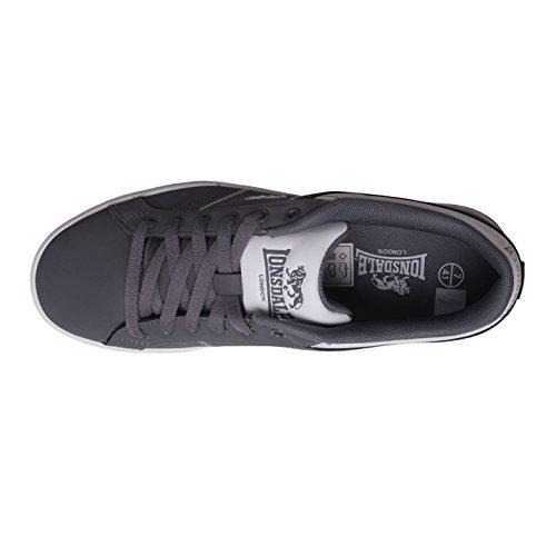 de Sport chaussures cuir de Pointure homme Gris Baskets Casual Latimer Lonsdale type Dessus pour en FzqZWxv1