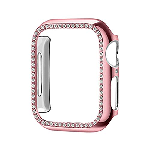 - QUICATCH Compatible with Apple Watch Series 3/2 38mm TPU Protective Case Cover with Bling Diamond Crystal Rhinestone Shiny Shockproof Scratchproof (Rose Gold)