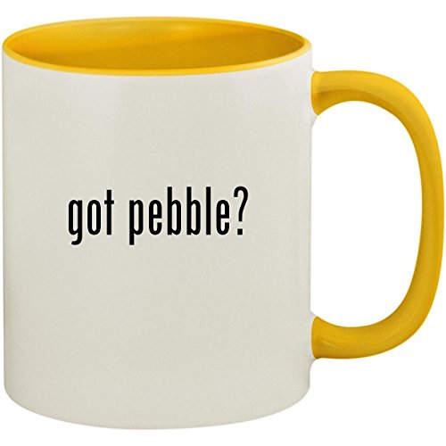 got pebble? - 11oz Ceramic Colored Inside and Handle Coffee Mug Cup, Yellow -