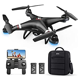 Holy Stone GPS Drone with 1080P HD Camera FPV Live Video for Adults and Kids, Quadcopter HS110G with Carrying Bag, 2…