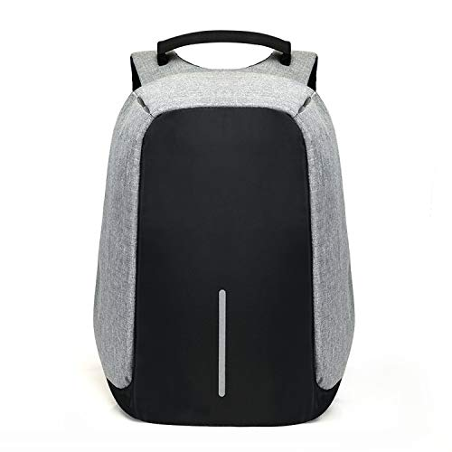 Uchada 2019 Anti-theft Backpack Multi-function Computer Bag USB Charging (Grey)