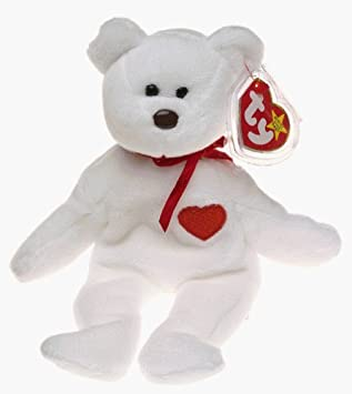 Ty Beanie Babies - Valentino the White Heart Bear  Amazon.co.uk  Baby 71853ec7c6fb