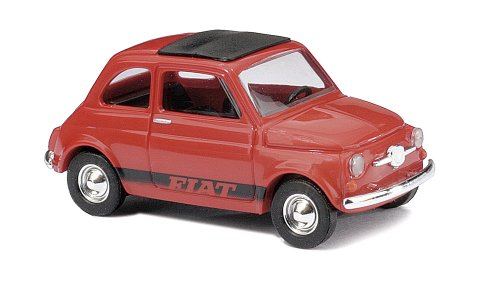 Busch 48705 Fiat 500 Red and Black HO Scale Model (Best Fiat 500 Model)