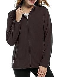 ACEVOG Women's Outdoor Full Zip Active Warm Anti-Pill Fleece Jacket Coat Outwear