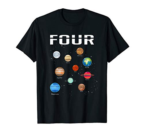 Outer Space Costume Ideas (Kids 4 Year Old Outer Space Birthday Shirt Solar Planets)