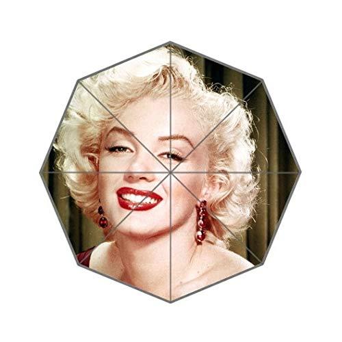 (BeesClover Fashion Design Umbrella Custom Sexy Marilyn Monroe Folding Umbrella for Man and Women UPC-079)