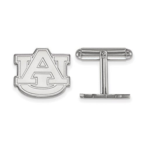 University Sterling Silver Cufflinks (Auburn Cuff Links (Sterling Silver))