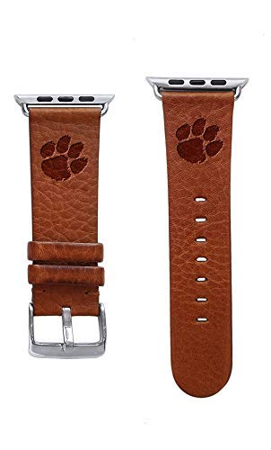 Tigers Leather (Affinity Bands Clemson Tigers Top Grain Leather Band Compatible with Apple Watch - Available in Three Leather Colors - Band ONLY)