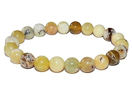 SunnyCrystals 10mm Opal Bracelet 01 Natural Green Heart Healing Crystal (Gift Box) (6.0) -