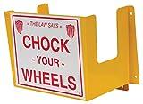 Vestil WC-H-R Wheel Chock Holder, 8.31'' Length, 11.25'' Height, Yellow