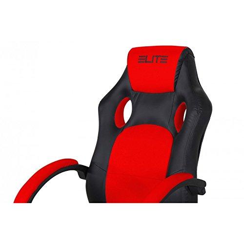 Oficina de y Gaming silla Elite MG - 100 piel sintética verschidene Colores, color rojo/negro: Amazon.es: Oficina y papelería