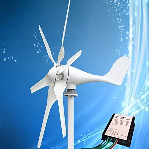 XDDWD Aerogenerador Turbina eólica de 400 W con Cuchillas 6PCS + ...
