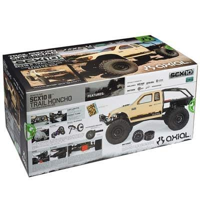 Axial SCX10 II Trail Honcho 4WD RC Rock Crawler Off-Road 4x4 Electric RTR with 2.4Ghz Radio, Waterproof ESC & LED Lights, 1/10 Scale RTR (Tan) ()