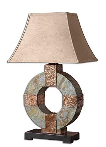 Uttermost 26307 Slate Table Lamp 17 x 12.125 x 28.5