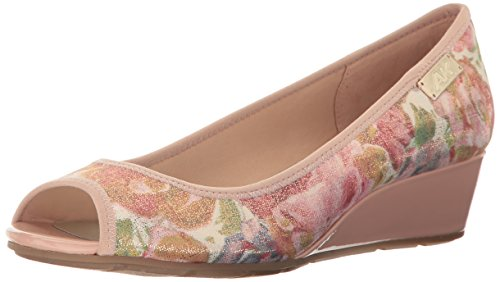 Medium Light Klein Anne Pump Fabric Wedge Pink Fabric Women's Camrynne SvYWW0Z1q